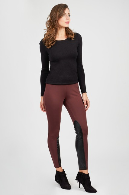 Faux Leather Riding Pant