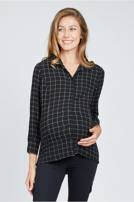 Checkered Plaid Top