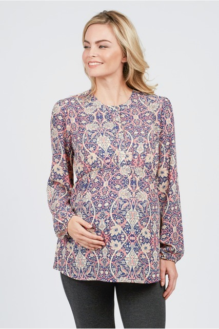 Abstract Paisley Blouse