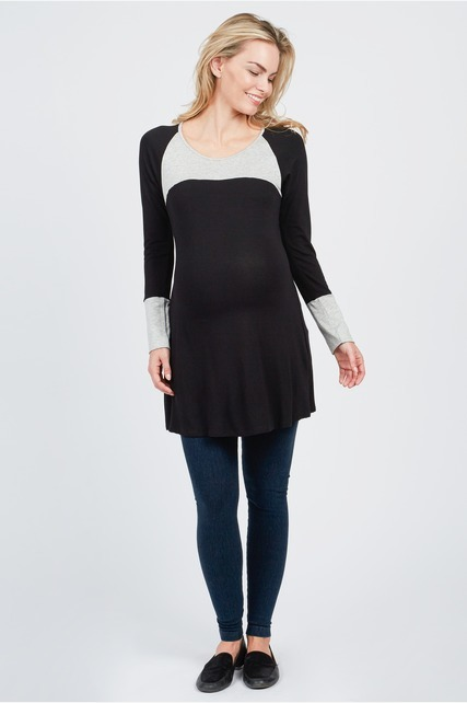 Scoop Color Block Tunic