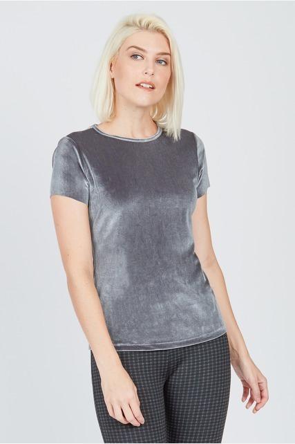 Textured Velvet Top