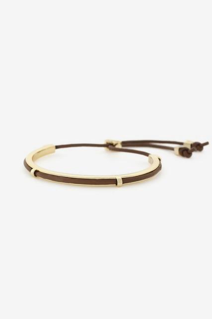 Gold Bar Pull Bracelet