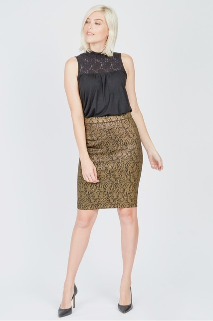 Printed Shine Skirt