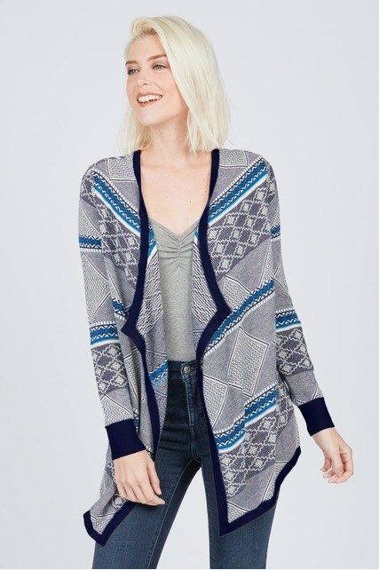 Double Jacquard Cardigan