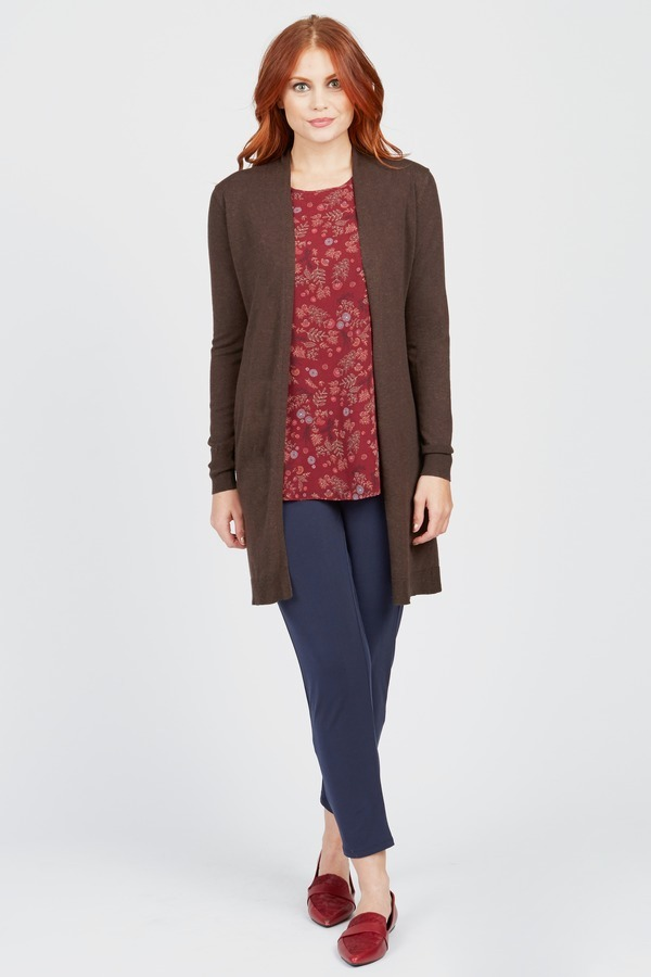Brown Duster Cardigan by Survival at Le Tote