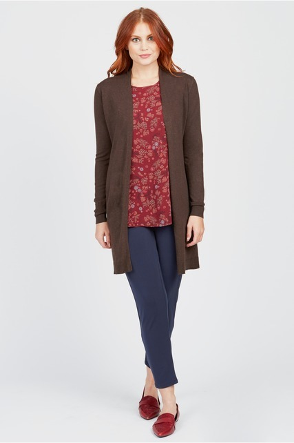 Brown Duster Cardigan