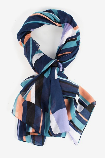 Multi Geo Stripe Scarf
