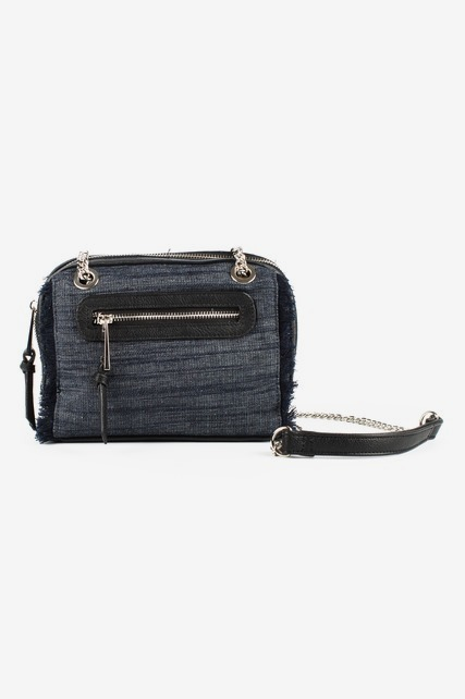 Denim Fringe Trim Handbag