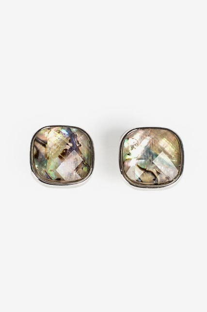Abalone Square Studs
