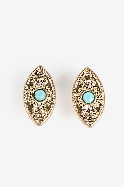 Turquoise Ornate Studs