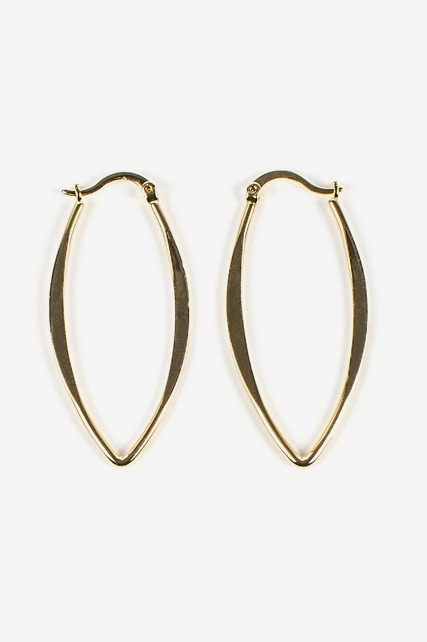 Navette Hoop Earrings
