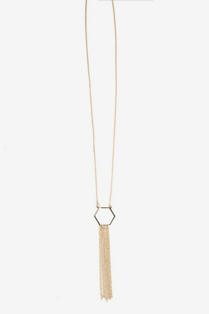 Geo Tassel Necklace