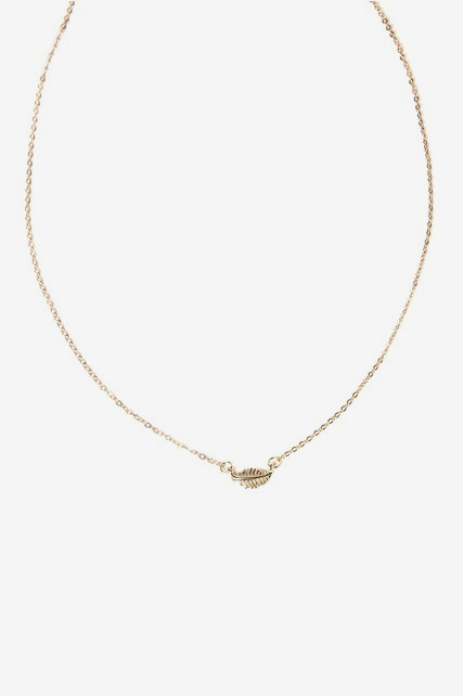 Feather Line Necklace