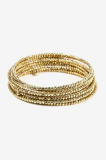 Gold Nugget Wire Bracelet
