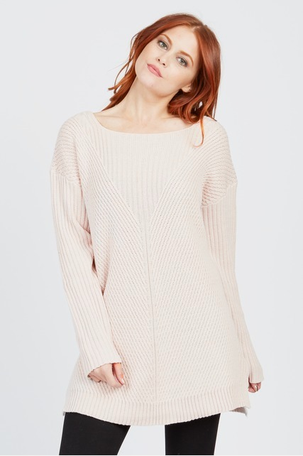 Textured Vee Neck Sweater