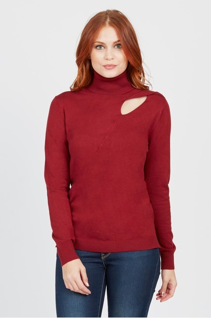 Cut Out Turtleneck