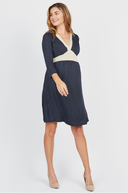Tie Back Nursing Dress