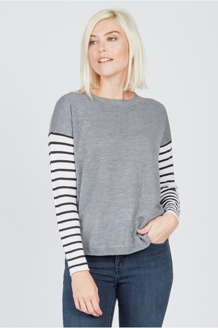 Contrast Stripe Sweater