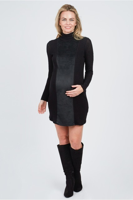 Sueded Panel Dress