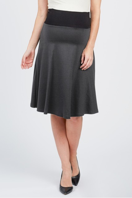 Drapey A-Line Skirt