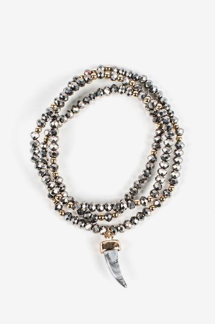 Crystal Horn Bracelet