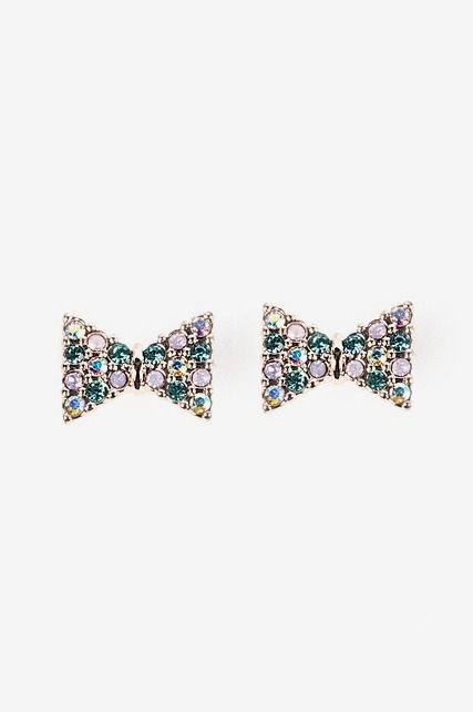 Multi Crystal Bow Studs