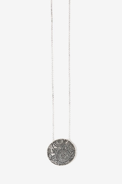 Etched Flower Necklace