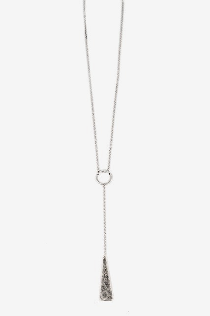Hammered Lariat Necklace