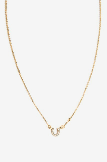 Pave Horseshoe Necklace