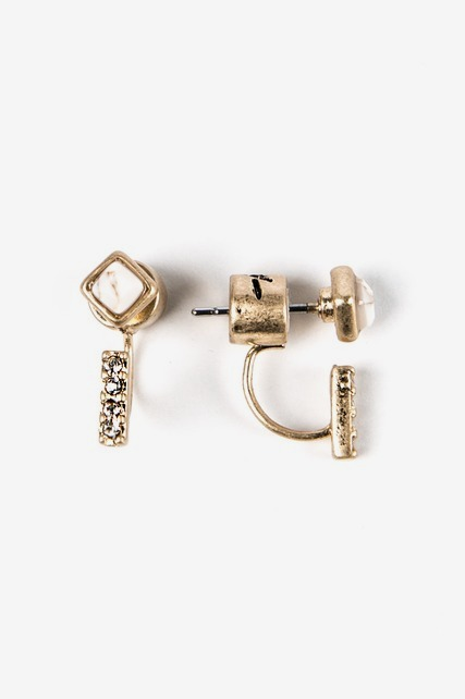 Front To Back Pave Stud