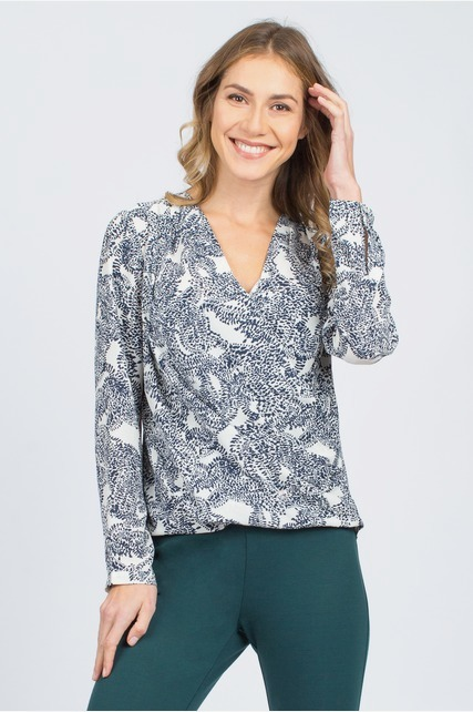 Abstract Chiffon Blouse