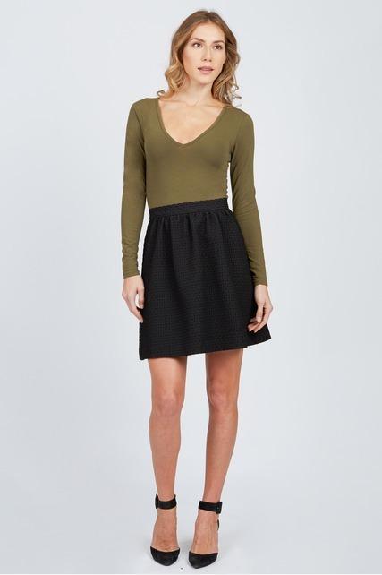 Textured Circle Skirt