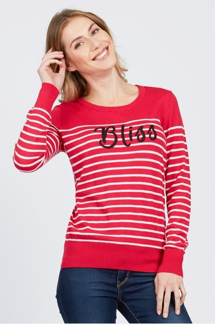 Bliss Striped Sweater
