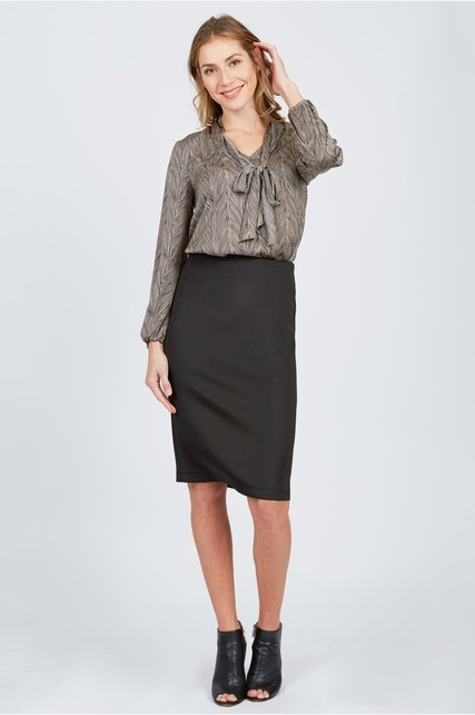 Zipper Pencil Skirt