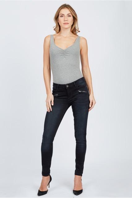 Skinny Zipper Pant