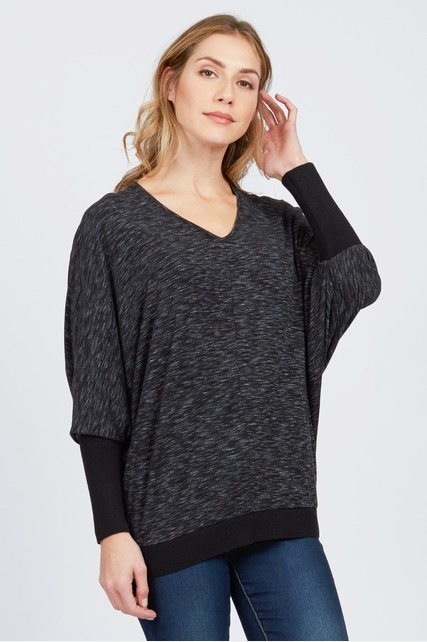 Mixed Media Dolman Top