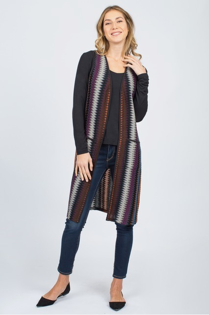 Long Chevron Vest