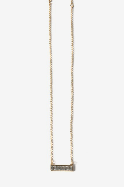 Baguette Bar Necklace