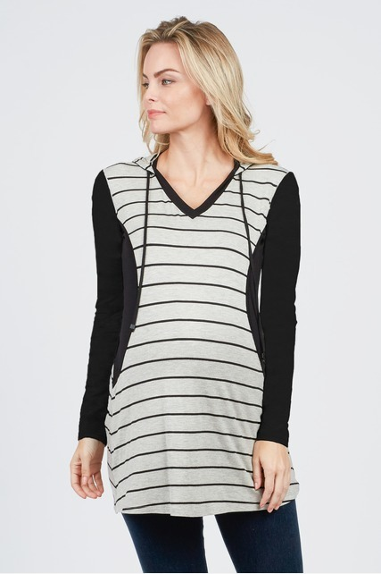 Striped Nursing Tunic