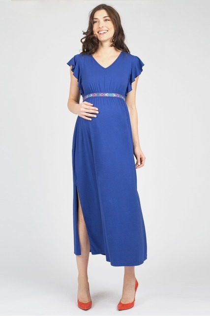 Flutter Sleeve Maxi Dress