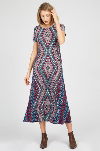 Geo Midi Dress