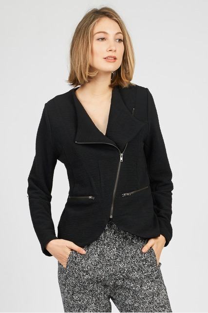 Zip Front Knit Jacket