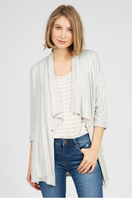 Single Button Drape Jacket