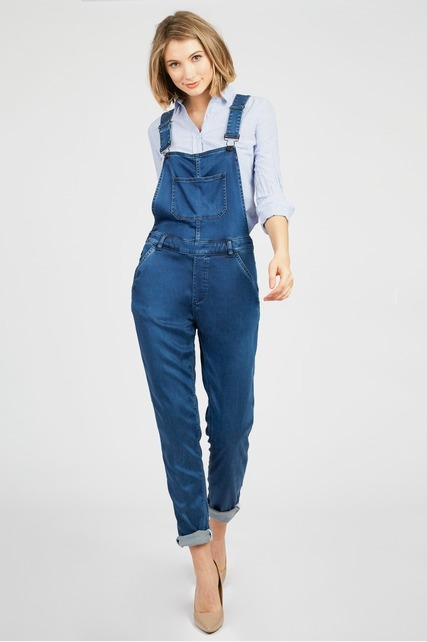 Soft Light Wash Overalls