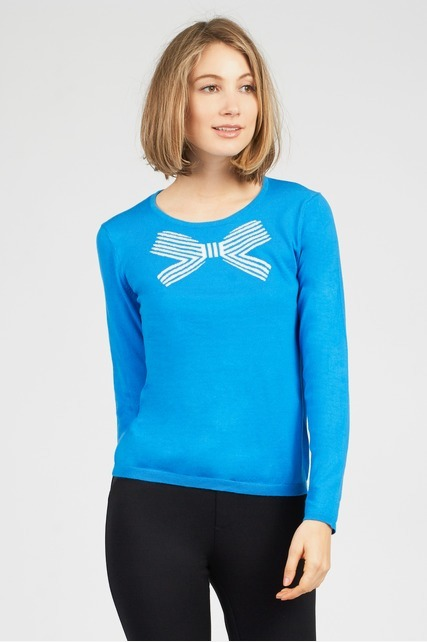 Bow Print Pullover