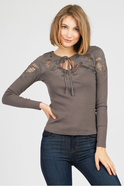 Tie Back Lace Top