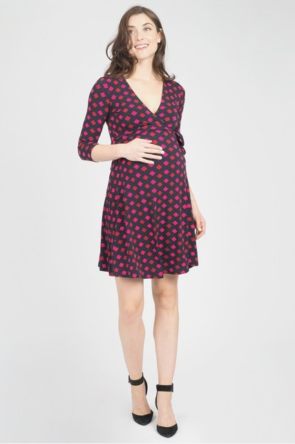 Argyle Wrap Dress