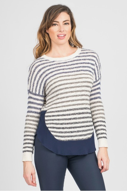 Variegated Stripe Dolman
