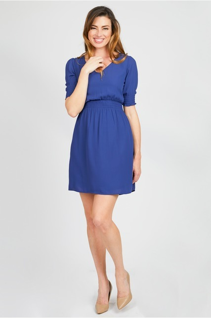 Smocked Sleeve Dress