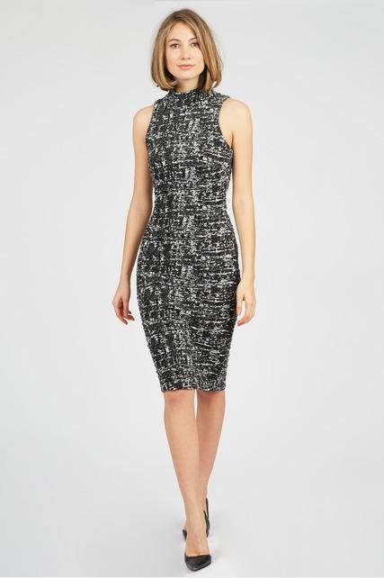 Textured Mock Neck Dress